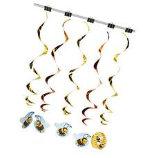 Beistle 57572 5-Pack Bumblebee Whirls, 3-Feet 4-Inch