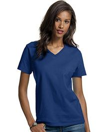 Hanes 5780 Relaxed Fit Women Comfortsoft V-Neck T-Shirt