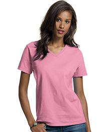 Hanes Relaxed Fit Women's ComfortSoft; V-neck T-Shirt
