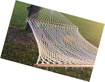 "59"" Double Wide Soft Cotton Rope Hammock That Accomodates"