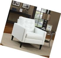 Acme 59048 Balin Accent Chair, White Polyurethane Finish
