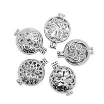 5pcs Mix Style 30mm Stainless Steel Tone Alloy Locket