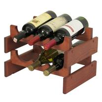 6-Bottles Wine Rack in Mahogany Finish