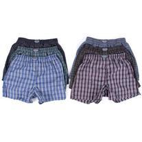 6 Men Plaid Boxer Shorts Underwear