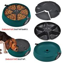 Topro 6 Days Meal Automatic Pet Feeder Dog Cat Bowl Auto