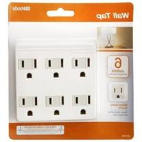 Coleman Cable 6-Outlet White Front Entry Wall Adaptor