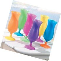 12 Hurricane Tumblers Party Cup Glasses Luau Tropical