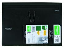 Five Star 6-Pocket Expanding File, 13 x 9.38 Inches, Black