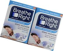 60)sz-LARGE-Breathe Right Nasal Strips Clear Sensitive,2-NEW