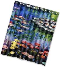 """60""""x72"""" Inches Water Lilies by Claude Monet Shower Curtain"""