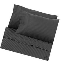 Egyptian Bedding 600 Thread-Count, Queen Pillow Cases,Black