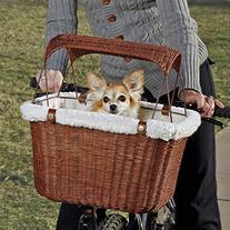 Solvit PetSafe Tagalong Wicker Bicycle Basket, Dog Carrier