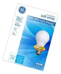 GE Lighting 66247 Soft White 43-Watt, 620-Lumen A19 Light
