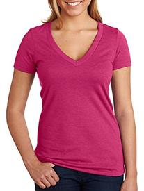 6640 Next Level Women's CVC Deep V neck T-Shirt- Raspberry