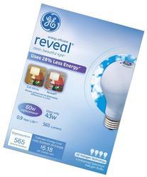 GE Lighting 67770 Reveal 43-Watt, 565-Lumen A19 Light Bulb