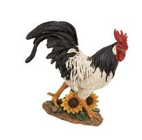 Deco 79 69750 Polystone Decorative Rooster Statue, 13 by 14-