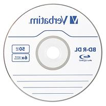 Verbatim BD-R DL 50GB 6X with Branded Surface - 10pk Spindle
