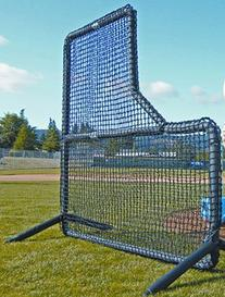 7'H x 7'W Protector™ Series L-Shaped Pitcher's Screen