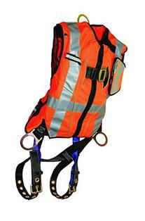 FallTech 70182X3XO Hi-Vis Vest Harness, Non-Belted FBH - 3 D