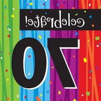 70th Lunch Napkins 3-ply Milestone Celebrations