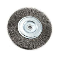 Forney 72747 Wire Bench Wheel Brush, Fine Crimped with 1/2-
