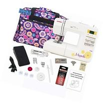 Janome 7330 Computerized Sewing Machine Bundle with Purple