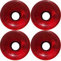 Choice 78a Longboard Wheels , Red, 70mm