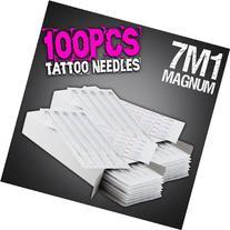 100pcs 7M1 Disposable Sterile Tattoo Needles 7 Mag Magnum
