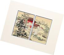Yofu Gacho , antique print handmade in Japan