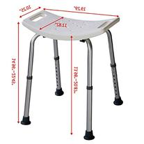 Super buy 8 Height Adjustable Shower Chair Medical Bath