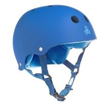 Triple 8 Brainsaver Rubber Helmet with Sweatsaver Liner