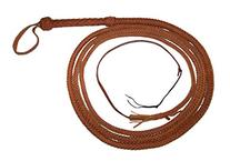 14 Foot 8 Plait TAN Bullwhip Real Leather BULL WHIP