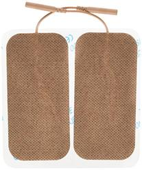 "Santamedical 8 4"" X 2"" Re-Usable Tan Carbon Electrode Pads"
