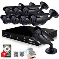 ZOSI 8CH 720P HD Video Security System with 8x 1200TVL