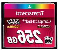 Transcend 256GB CompactFlash Memory Card 800x
