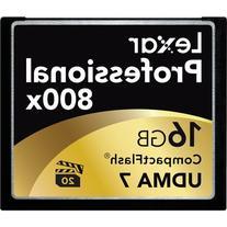 Lexar Professional 800x 16GB VPG-20 CompactFlash Card  w/