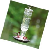 Perky-Pet 8107-2 Antique Bottle 10-Ounce Glass Hummingbird