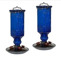 Perky-Pet 8117-2 Cobalt Blue Antique Bottle Hummingbird