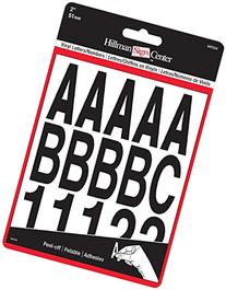 The Hillman Group 847004 Die-Cut Letters/Numbers Kit, Black