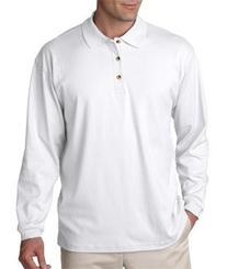 Ultraclub Mens Egyptian Interlock Long-Sleeve Polo 8501 -