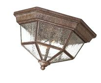 Minka Lavery 8619-A61 2 Light Flush Mount, Vintage Rust