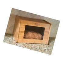 Lipper 8847 Bamboo Bread Box With Tampered Glass Window Door