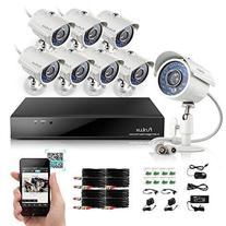 Funlux 8CH 960H Video DVR QR Code Quick View Security Camera