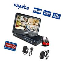 SANNCE 8CH 720P HD Security DVR with 1TB HDD, Hybrid HVR NVR