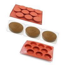 AYAMAYA 9-Cavity Food-Grade Silicone Cake Mold Biscuit