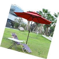 Adeco 9 Feet Outdoor Market Aluminum Umbrella with Tilt and
