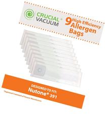9 Nutone 391 Allergen Vacuum Bags, Fits Nutone Central