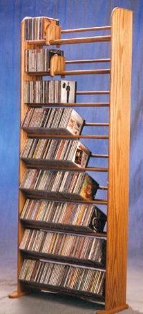 9 Row Dowel CD Rack