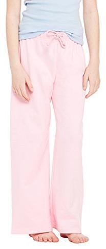 Bella 9017 7.5 oz. Girl's Straight Leg Sweatpants - Pink - M