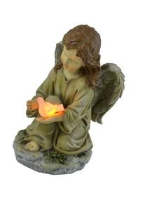 Moonrays 91338 Solar Powered Angel with Glowing Dove Statue